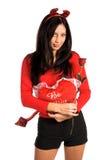 Biglietto di S. Valentino della donna del diavolo immagini stock libere da diritti