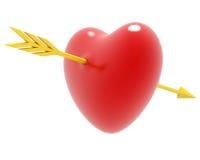Biglietto di S. Valentino della freccia e del cuore Immagini Stock Libere da Diritti