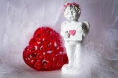 Biglietto di S. Valentino della st della carta Fotografia Stock