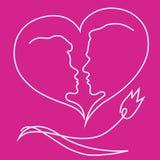 Biglietto di S. Valentino della st, giorno Fotografie Stock