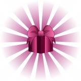 Biglietto di S. Valentino dentellare Giftbox Immagini Stock Libere da Diritti