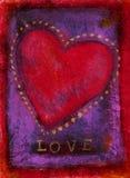 Biglietto di S. Valentino di amore Fotografia Stock