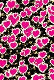 Biglietto di S. Valentino di amore del cuore del modello Immagine Stock
