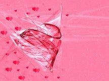 Biglietto di S. Valentino di astrazione illustrazione vettoriale