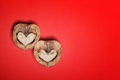 Biglietto di S. Valentino di carta della st del fondo dei cuori Fotografie Stock Libere da Diritti