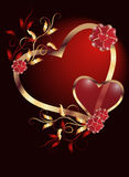 Biglietto di S. Valentino di giorno Fotografie Stock