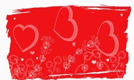 Biglietto di S. Valentino di Grunge Fotografie Stock