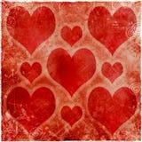 Biglietto di S. Valentino di Grunge Fotografia Stock