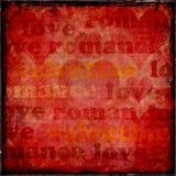 Biglietto di S. Valentino di Grunge Fotografia Stock Libera da Diritti