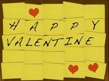 Biglietto di S. Valentino felice Fotografie Stock