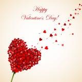 Biglietto di S. Valentino felice Immagine Stock