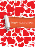 Biglietto di S. Valentino felice Immagini Stock Libere da Diritti
