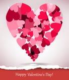 Biglietto di S. Valentino felice Fotografia Stock