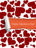 Biglietto di S. Valentino felice Immagini Stock