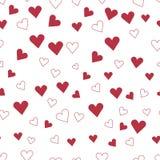 Biglietto di S. Valentino felice \ 'giorno di s Reticolo dei cuori fotografia stock