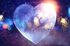 Biglietto di S. Valentino ghiacciato del cuore Immagini Stock