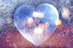 Biglietto di S. Valentino ghiacciato del cuore Fotografie Stock Libere da Diritti