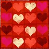 Biglietto di S. Valentino Grungy Fotografia Stock