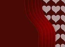 Biglietto di S. Valentino liscio Immagine Stock Libera da Diritti