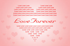 Biglietto di S. Valentino o fondo di amore nella forma del cuore Fotografia Stock Libera da Diritti
