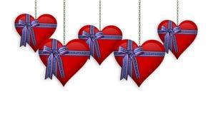 Biglietto di S. Valentino o quarto del bordo dei cuori di luglio Immagine Stock Libera da Diritti