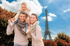 Biglietto di S. Valentino a Parigi Immagini Stock Libere da Diritti