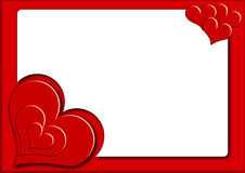 Biglietto di S. Valentino photoframe3 Fotografie Stock