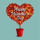 Biglietto di S. Valentino, pianta Fotografia Stock Libera da Diritti