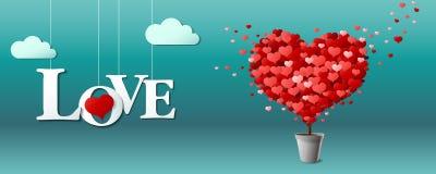 Biglietto di S. Valentino, pianta Fotografie Stock Libere da Diritti