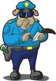 Biglietto di scrittura della polizia del cane Fotografie Stock