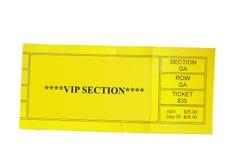 Biglietto di VIP immagine stock libera da diritti
