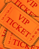 Biglietto di VIP Fotografia Stock
