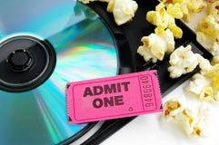 Biglietto e film immagine stock