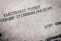 Biglietto elettronico Immagini Stock
