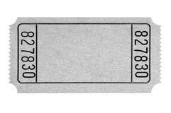 Biglietto grigio in bianco di film isolato su bianco normale immagini stock