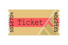 Biglietto, illustrazione Fotografia Stock Libera da Diritti