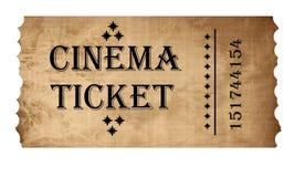 Biglietto isolato del cinematografo Fotografie Stock