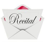 Biglietto P di prestazione di concerto di musica da ballo dell'invito di parola del recital royalty illustrazione gratis