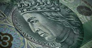 Biglietto polacco o banconote Fotografia Stock
