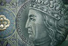 Biglietto polacco o banconote Immagini Stock Libere da Diritti