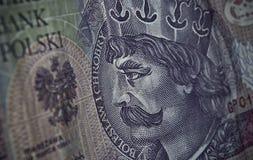 Biglietto polacco o banconote Immagini Stock