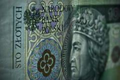 Biglietto polacco o banconote Immagine Stock