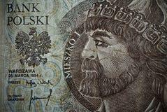 Biglietto polacco o banconote Fotografia Stock Libera da Diritti