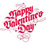 Biglietto postale di giorno del ` s del biglietto di S. Valentino nello stile d'annata Immagine Stock