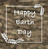 Biglietto postale felice della mano di giornata per la Terra, fondo illustrazione di stock