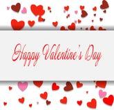 Biglietto postale felice di San Valentino EPS10 Illustrazione di vettore Fotografie Stock