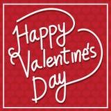 Biglietto postale felice di San Valentino, illustrazione di vettore Fotografia Stock