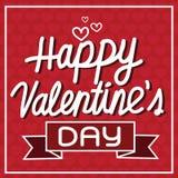 Biglietto postale felice di San Valentino, illustrazione di vettore Fotografie Stock Libere da Diritti