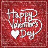Biglietto postale felice di San Valentino, illustrazione di vettore Immagini Stock