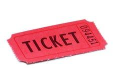 Biglietto rosso Immagini Stock Libere da Diritti
